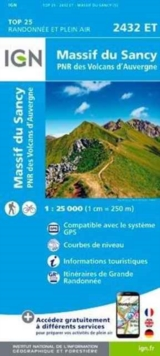Massif du Sancy PNR des Volcans d'Auvergne : IGN.2432ET, Sheet map, folded Book