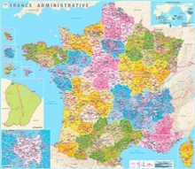 France counties and districts fllat laminated : IGN70049.PP, Sheet map, rolled Book