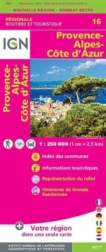 Provence - Alpes - Cote d'Azur : IGN.NR16, Sheet map, folded Book