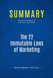 Summary: The 22 Immutable Laws of Marketing : Review and Analysis of Ries and Trout's Book, EPUB eBook