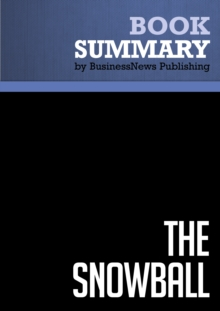 Summary: The Snowball : Review and Analysis of Schroeder's Book, EPUB eBook