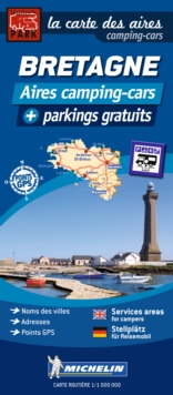 Brittany Motorhome Stopovers : Trailers Park Maps, Sheet map Book