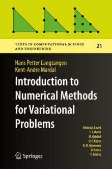 Introduction to Numerical Methods for Variational Problems, EPUB eBook