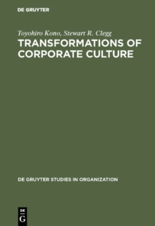 Transformations of Corporate Culture : Experiences of Japanese Enterprises, PDF eBook