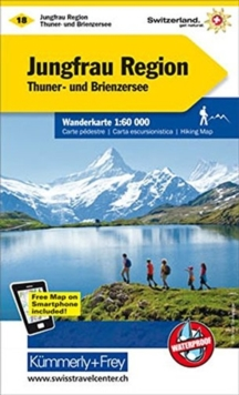 Jungfrau Region : KF.WK.18, Sheet map, folded Book