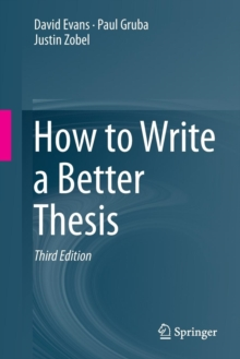 How to Write a Better Thesis, Paperback Book