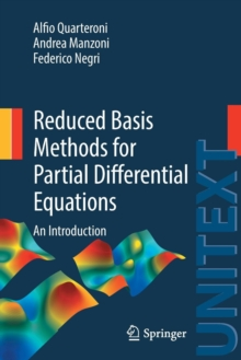 Reduced Basis Methods for Partial Differential Equations : An Introduction, Paperback Book