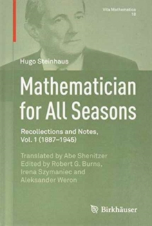 Mathematician for All Seasons, Hardback Book