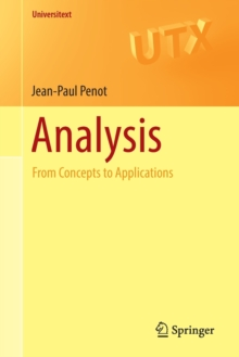 Analysis : From Concepts to Applications, Paperback Book
