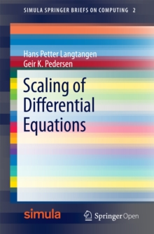 Scaling of Differential Equations, PDF eBook