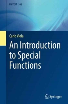 An Introduction to Special Functions, Paperback Book