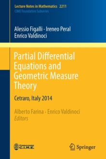 Partial Differential Equations and Geometric Measure Theory : Cetraro, Italy 2014, Paperback / softback Book