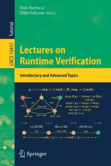 Lectures on Runtime Verification : Introductory and Advanced Topics, Paperback / softback Book