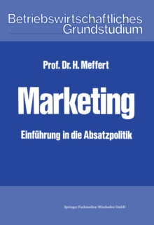 Marketing : Einfuhrung in die Absatzpolitik, PDF eBook