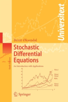 Stochastic Differential Equations : An Introduction with Applications, Paperback / softback Book