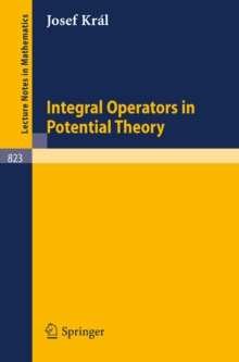 Integral Operators in Potential Theory, PDF eBook