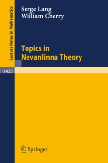 Topics in Nevanlinna Theory, PDF eBook