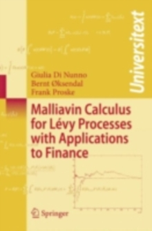 Malliavin Calculus for Levy Processes with Applications to Finance, PDF eBook