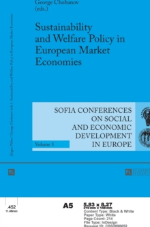 Sustainability and Welfare Policy in European Market Economies, Hardback Book