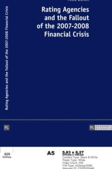 Rating Agencies and the Fallout of the 2007-2008 Financial Crisis, Hardback Book