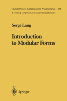 Introduction to Modular Forms, PDF eBook