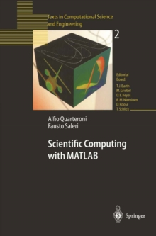 Scientific Computing with MATLAB, PDF eBook