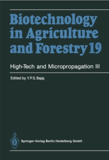 High-Tech and Micropropagation III, PDF eBook