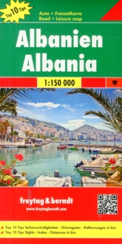 Albania, Sheet map, folded Book