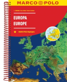 Europe Marco Polo Road Atlas, Paperback / softback Book