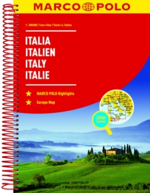 Italy Marco Polo Road Atlas, Spiral bound Book