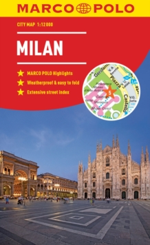 Milan Marco Polo City Map 2018 - pocket size, easy fold, Milan street map, Paperback Book
