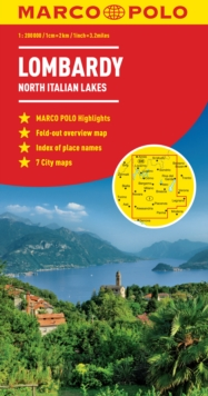 Lombardy Marco Polo Map (North Italian Lakes), Sheet map, folded Book