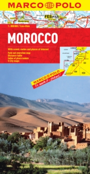 Morocco Map, Sheet map, folded Book