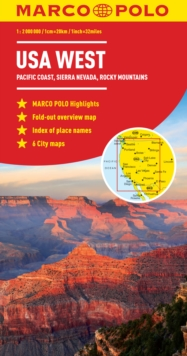 USA West Marco Polo Map, Sheet map, folded Book