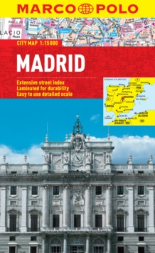 Madrid City Map, Sheet map, folded Book
