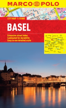 Basel Marco Polo Laminated City Map, Sheet map, folded Book