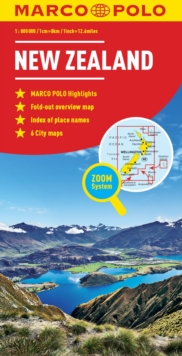 New Zealand Marco Polo Map, Paperback / softback Book