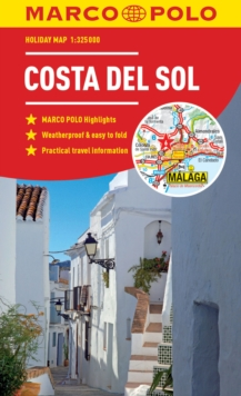 Costa Del Sol Marco Polo Holiday Map 2019 - pocket size, easy fold Costa del Sol map, Sheet map, folded Book