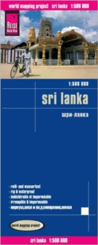 Sri Lanka, Sheet map, folded Book