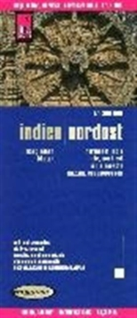 India Northeast : REISE.1360, Sheet map, folded Book