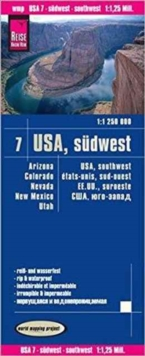 USA 7 Southwest : REISE.3380, Sheet map, folded Book