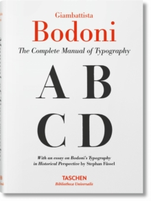 Giambattista Bodoni. Manual of Typography, Hardback Book