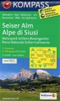 SEISER ALM 067 GPS WP KOMPASS ALPE DI SI, Sheet map Book