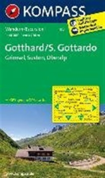 GOTTHARD 108 GPS R KOMPASS GRIMSEL SUSTE, Sheet map Book