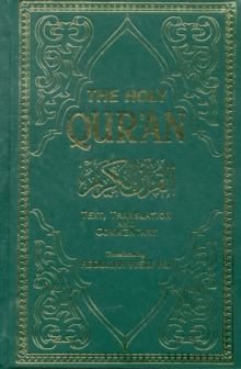 The Holy Qur'an : English Translation, Commentary and Notes with Full Arabic Text, Paperback Book