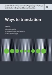 Ways To Translation, Paperback Book