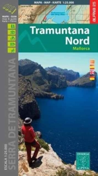 Mallorca -Tramuntana Norte GR11 Map and Hiking Guide : ALPI.102-E25, Sheet map, folded Book