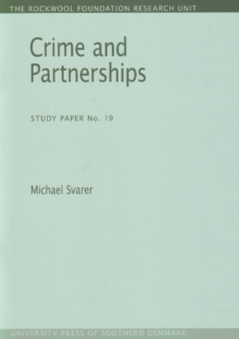 Crime and Partnerships : Study Paper No. 19, Paperback Book