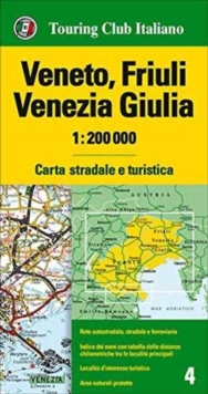Veneto / Friuli Venice / Giulia 4, Sheet map, folded Book