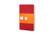 Moleskine Ruled Cahier - Red Cover (3 Set), Multiple copy pack Book